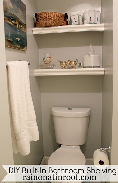 DIY Bathroom Shelving - Budget Bathroom Makeover