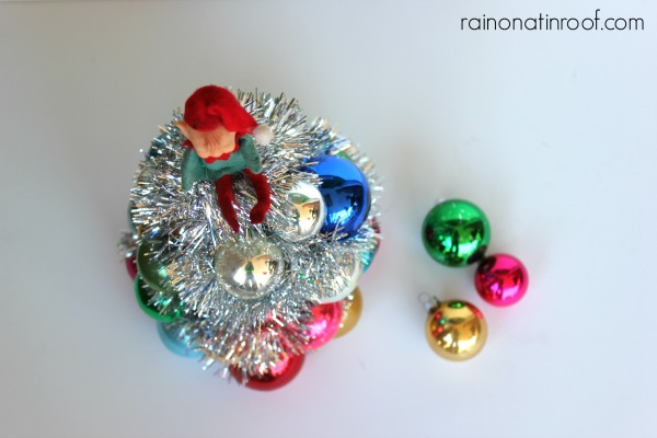 How to Make a Vintage Ball Ornament Tree