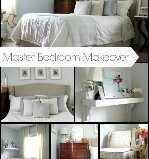 Master Bedroom Makeover {rainonatinroof.com} #masterbedroom #makeover