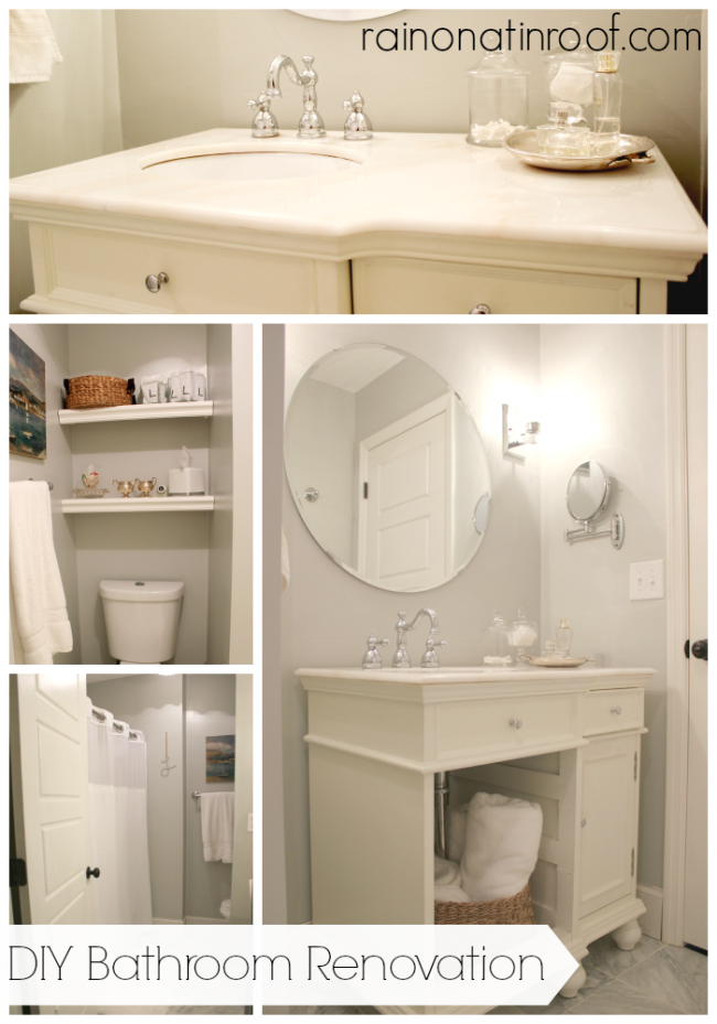 DIY Bathroom Renovation {rainonatinroof.com} #bathroom #renovation #makeover #diy