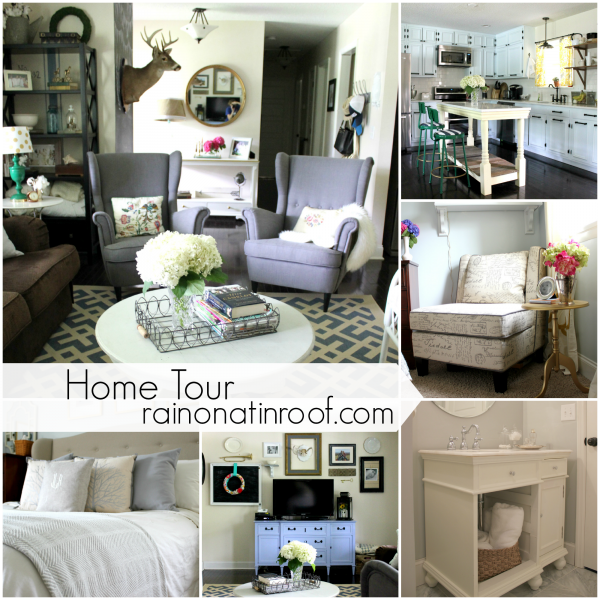 Home Tour {rainonatinroof.com} #hometour