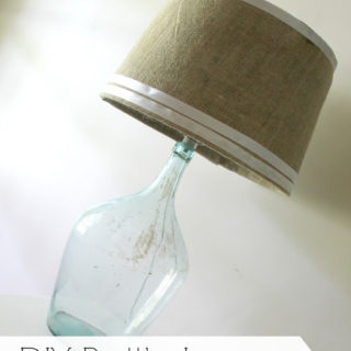 How to Make a Lamp Out of a Bottle