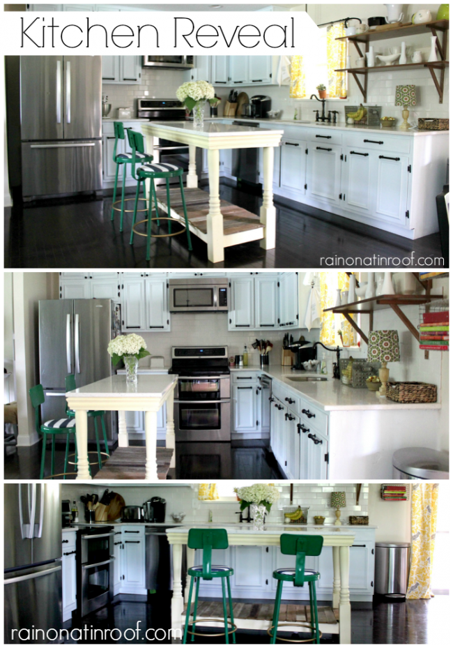 Rustic Kitchen | White Kitchen | Kitchen Remodel | Kitchen Ideas | DIY Kitchen Ideas | Painted Kitchen Cabinets | DIY Kitchen Island