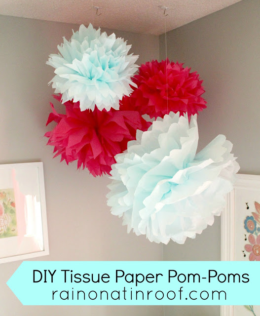 DIY Tissue Paper Pom Poms (Easy and Fun)