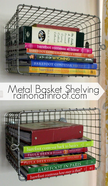 Metal Basket Shelving from Vintage Locker Baskets