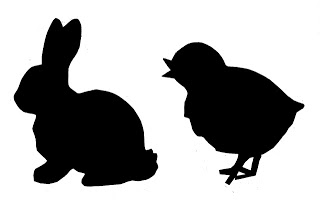 Chick and Bunny Silhouettes