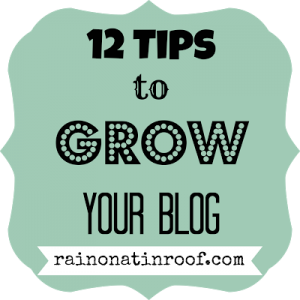 12 Tips to Grow Your Blog {rainonatinroof.com}