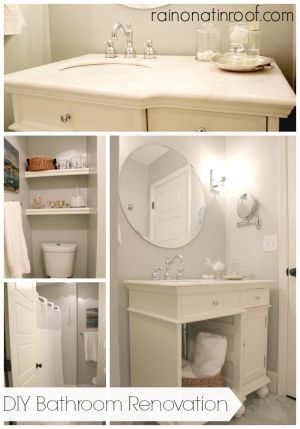 Bathroom Renovation {rainonatinroof.com}