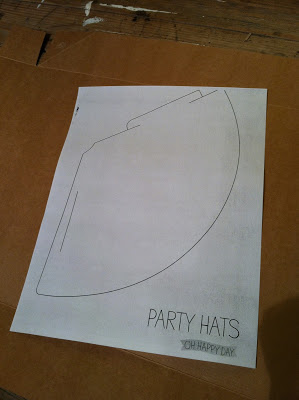 Party Hat Template - Rain on a Tin Roof