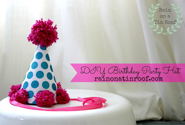 Make a party hat using cardstock - Rain on a Tin Roof