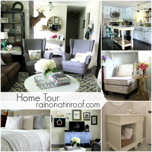 Home Tour {rainonatinroof.com}