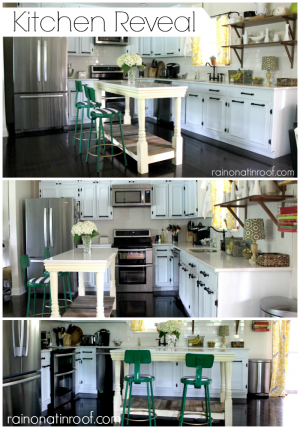 Kitchen Makeover {rainonatinroof.com}