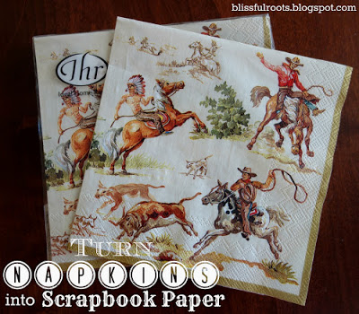 Simple Crafts Anyone Can Do: Napkins turned into Scrapbook Paper