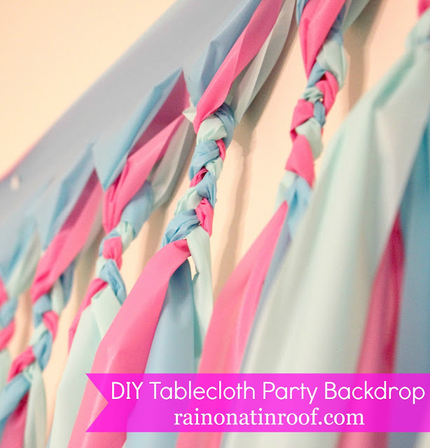 Make this less than $5 and very simple diy party background to spruce up any party! All it takes is a little time and three plastic tablecloths.