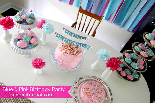 Pink and Blue Birthday Party