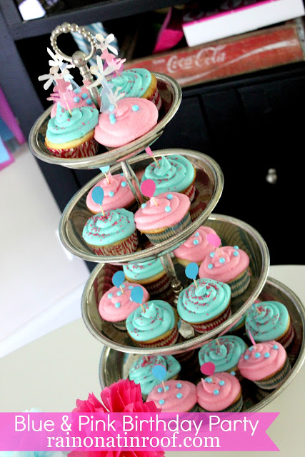 Blue and Pink Birthday Party