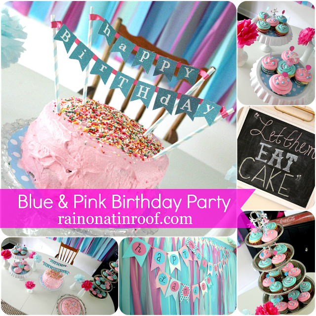 Blue and Pink Birthday Party | DIY Party Decor Ideas | Girl's Birthday Party Ideas | Baby Girl 1st Birthday Party Ideas