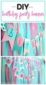 DIY Birthday Banner Tutorial with Paper, Scissors, and a Marker!