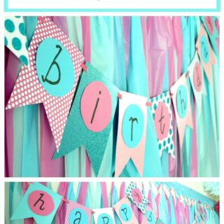 DIY Birthday Banner - easy to make - Rain on a Tin Roof
