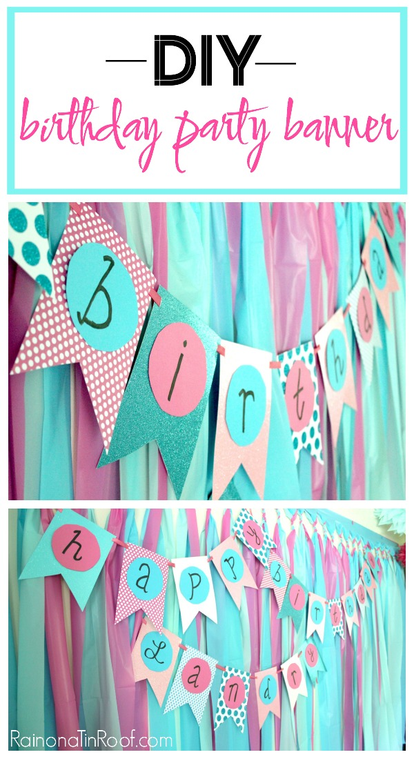 Simple DIY Birthday Party Banner with Paper and Scissors