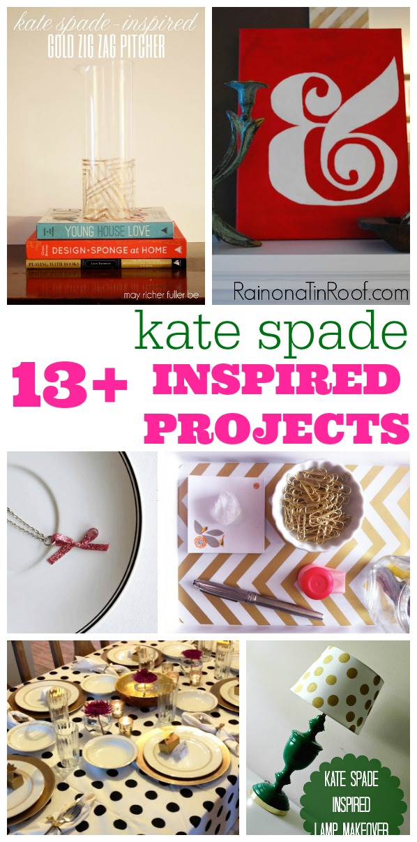 DIY Kate Spade Decor | DIY Kate Spade Office | DIY Kate Spade Party | Kate Spade Decor | Kate Spade Crafts | Easy Crafts