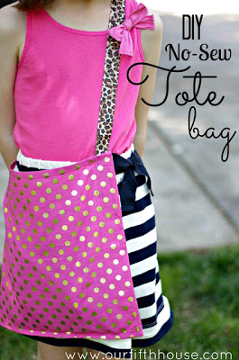Kate Spade Inspired No Sew Tote Bag