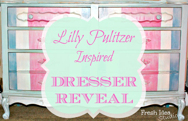 Lilly Pulitzer Inspired Dresser Makeover