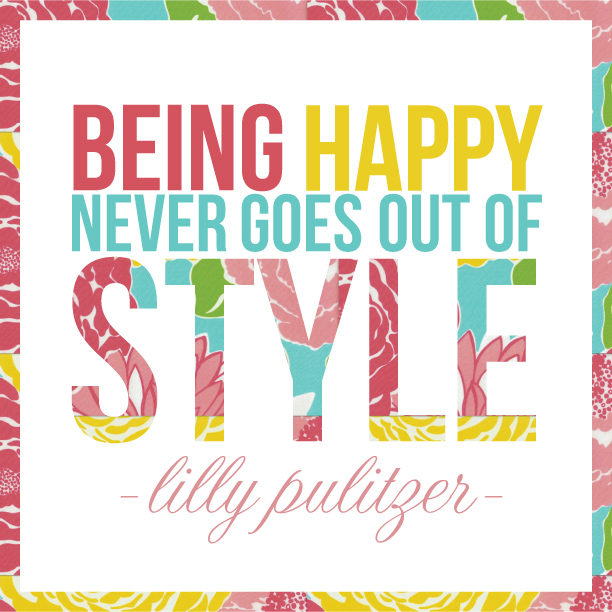 Lilly Pulitzer Printable Quote