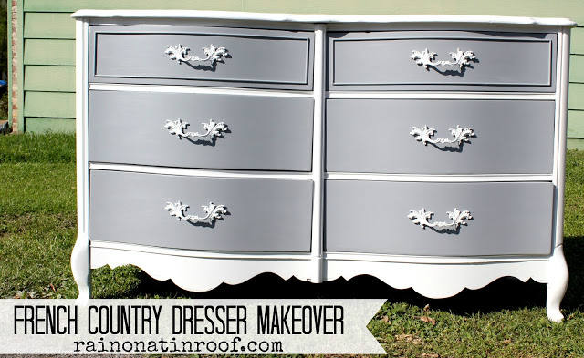 DIY Chalk Painted French Country Dresser
