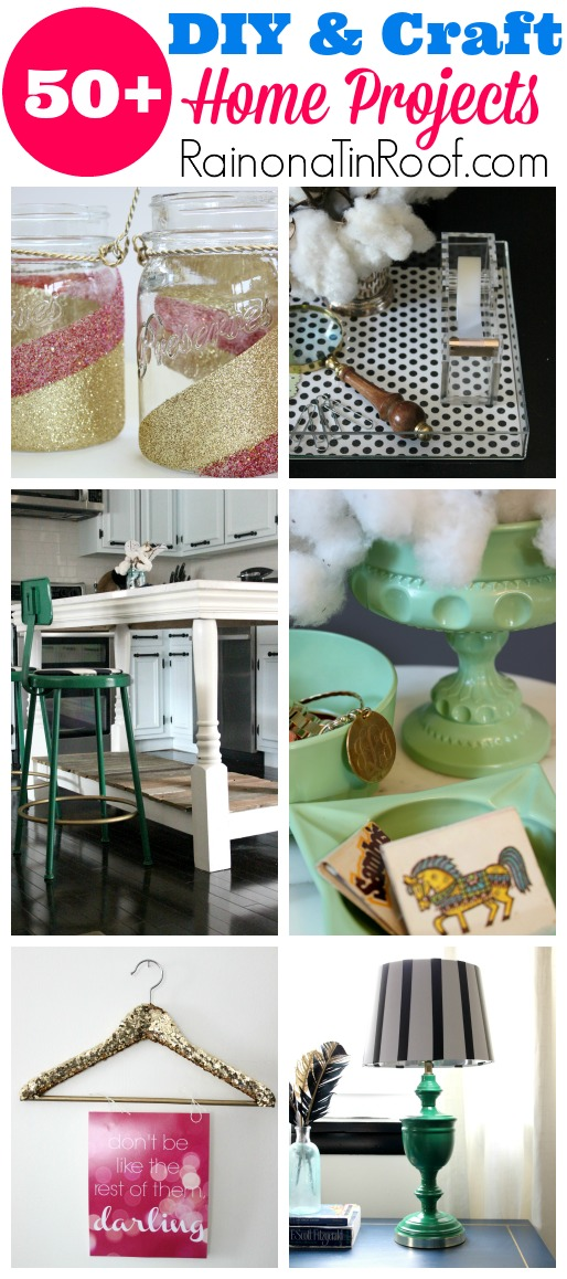 SO many awesome ideas and most are REALLY cheap! DIY and Craft Home Projects via RainonaTinRoof.com