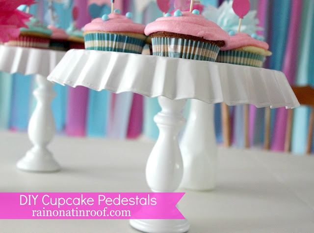 DIY Cupcake Pedestals from Thrift Store Finds