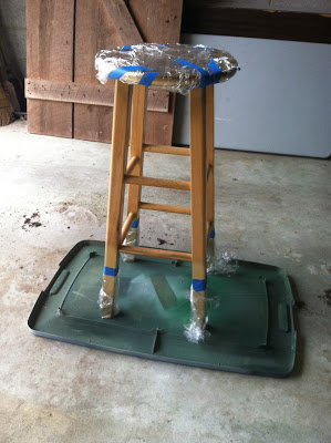 Simple Barstool Makeover