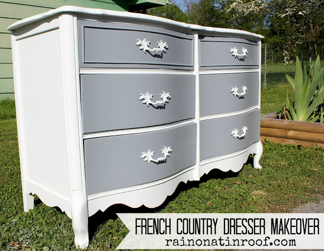 French Country Dresser Painted