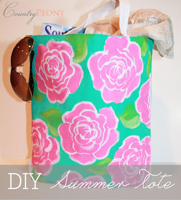 Lilly Pulitzer Inspired Tote