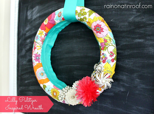 Lilly Pulitzer Inspired Wreath