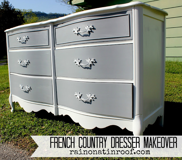 Painted French Country Dresser Makeover