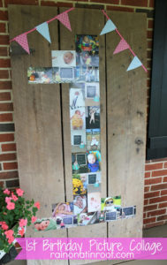 1st Birthday Photo Collage (A Personal DIY Party Decoration)