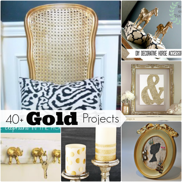 40 gold home decor diy projects and crafts easy home projects easy crafts - Gold Home Decor