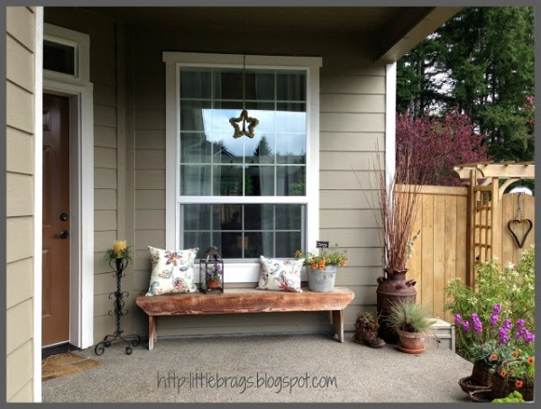 13 Ideas for Sprucing-Up Your Front Door and Entry {rainonatinroof.com}