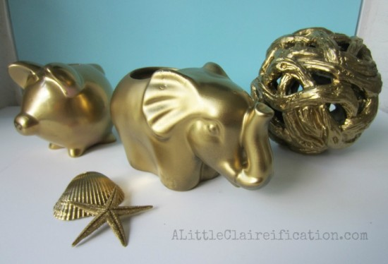 40+ Gold Projects {rainonatinroof.com} #gold #DIY #craft
