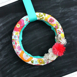 Lily Pulitzer Inspired Wreath