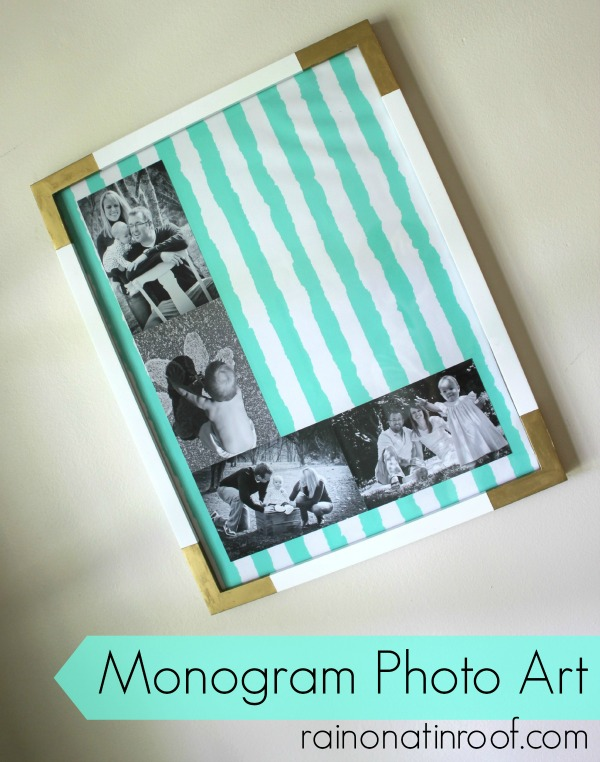 DIY Monogram Photo Art {rainonatinroof.com} #monogram #art