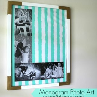 DIY Monogram Photo Art with All You Magazine