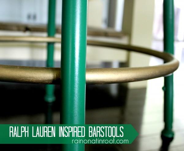 Ralph Lauren Inspired Barstools {rainonatinroof.com} #ralphlauren #barstool #makeover