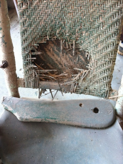 Restored Rocking Chair {rainonatinroof.com} #rockingchair