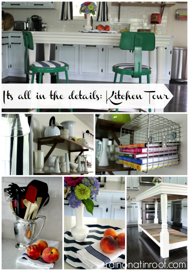 Kitchen Tour {rainonatinroof.com} #kitchen