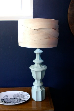 DIY Balsa Wood Lampshade Makeover