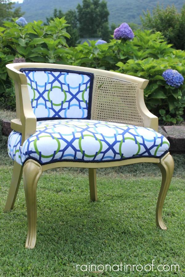Jonathan Adler Inspired Chair {rainonatinroof.com} #jonathanadler