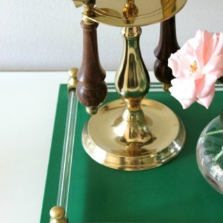 Vanity Tray Makeover {rainonatinroof.com} #tray #makeover