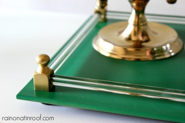 Green Tray {rainonatinroof.com} #tray